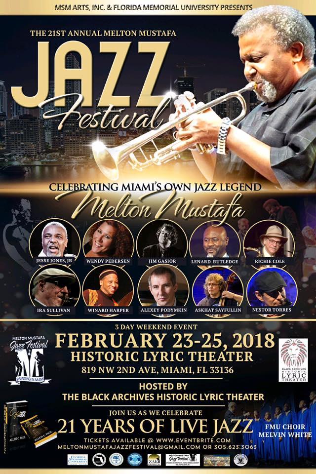 21st Annual Melton Mustafa Jazz Festival flyer