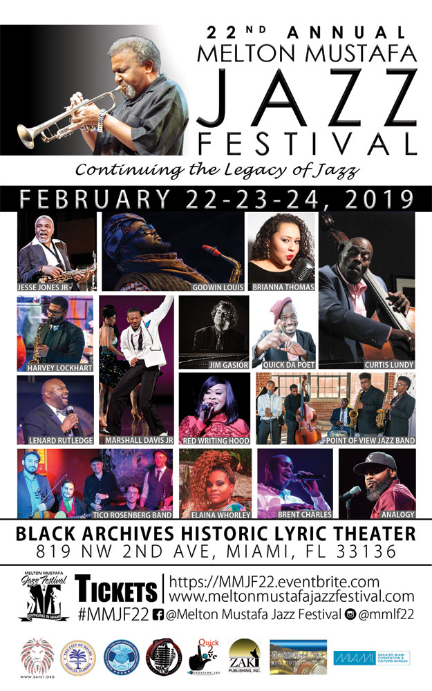 Melton Mustafa Jazz Festival flyer